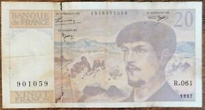 Billet 20 francs CLAUDE DEBUSSY 1997 FRANCE R.061