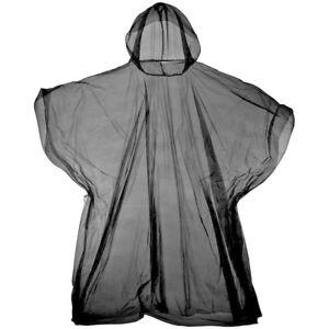 10 PACK WATERPROOF EMERGENCY PONCHO DISPOSABLE RAIN COAT FESTIVAL HOOD ADULTS