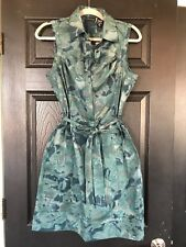 NWOT NEW YORK AND COMPANY ABSTRACT CAMO PRINT STRETCH BELTED SHEATH DRESS 8  SFS