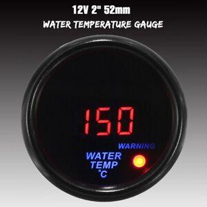 2'' 52mm Red LED Digital Auto Car Water Temp Gauge Temperature Meter & Sensor AU