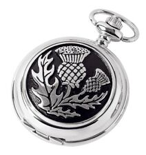 Woodford Chrome Plated Hunter Pocket Watch. Mechanical Movement, Thistle. 1877/S