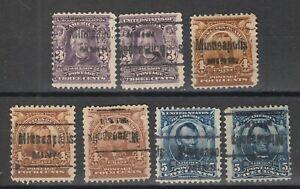 Classic Precancel Minneapolis Minnesota MN  lot of 7 stamps (minn-7)