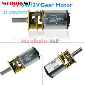 GA12-N20 15-2000RPM 3/6/12V 300RPM DC Gearmotor Micro Gear Motor Metal Gearbox