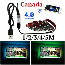 TV Backlight 5050 RGB LED Strip Set USB Tape String + Bluetooth Controller DC5V