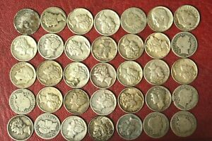 35 x Silver Dimes United States  Coins