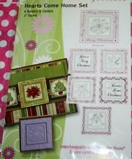 JustRite    HEARTS COME HOME   Rubber Stamp    NIP    Christmas