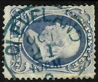 "Sc #156/182  ""OCT 21 Cleveland"" Town Cancel 1 Cent Franklin 1871-83 US 90B42"