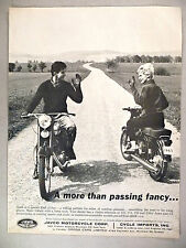 Jawa Motorcycle PRINT AD - 1963 ~~ CZ, Javco