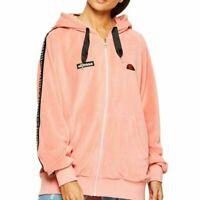 Ellesse Womens Hoody FZ Capretta Pink Oversized Loose Fit  RRP £60