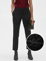 Banana Republic Women Avery Black Leopard Jacquard Tailored Ankle Pant Sz 4 NWT