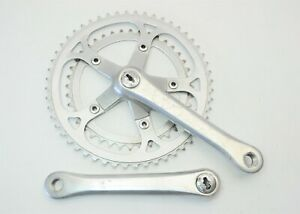 "VINTAGE SUGINO BICYCLE 170 MM 52/40 TOOTH JIS CRANKSET 110 MM BCD 9/16"" X 20 TPI"