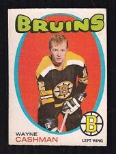 "1971-72 WAYNE CASHMAN #129 EX OPC ** Bruins ""Esposito Line"" Star NHL Hockey Card"