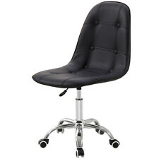 Cushioned Computer Desk Office Chair Quilted Dressing Swivel Small Adjustable