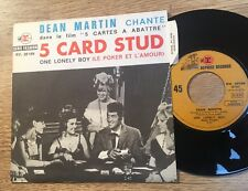 # ACTORS French SP picture sleeve Dean MARTIN 5 card stud 1968 Near Mint
