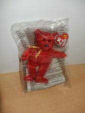 2005 MC DONALDS TY MINI PLUSH TOYS - RACHEL THE RED BEAR