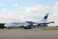 A-380 Airbus Malaysia Airlines A380 Airplane Wood Model Free Shipping Regular