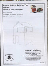Train Signal Tower Plan Pack  - G (1/24) Scale Garden railroad  building W04