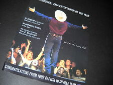 GARTH BROOKS CMA Entertainer Of The Year 1997 PROMODISPLAY AD mint cond