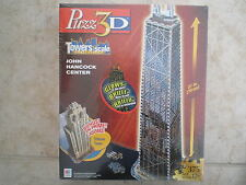 Wrebbit Puzz 3D puzzle John Hancock Center, Bonus Tribune Tower, New Sealed Box
