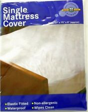 Waterproof Single Mattress Cover Non Allergenic Protector Elastic Fitted Sheet