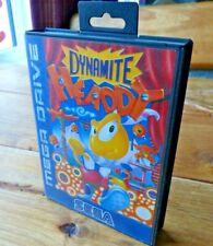 Dynamite HEADDY SEGA Mega Drive Reino Unido PAL en caja y completo en muy buena condición