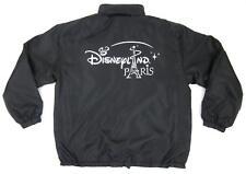 Men's Disneyland Paris Full Zip Fleece Lined Satin Sheen Jacket Black Silver XL