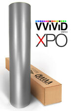 Silver Satin Chrome VViViD XPO 100ft x5ft stretch car wrap vinyl sheet roll film