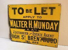 vintage estate agents enamel sign