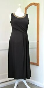 PRECIS PETITE BLACK BEADED EVENING CRIUSE DRESS SIZE 12 BRAND NEW