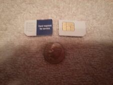 Lot of 2 MetroPcs Gsm Standard Sim Card Testing&Bypass Only! Not For Activation!