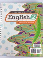 English 2 Christian Schools Writing & Grammar Teachers Ed plus answer (SKU# 850)