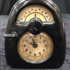 WORKING Vintage ISAMU NOGUCHI Hawkeye Measured Time Clock Timer Bakelite Case