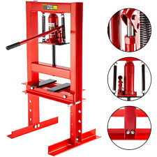 Hydraulic Shop Press Floor Shop Equipment 6 Ton Jack Stand H Frame Red
