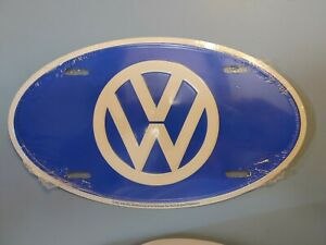 NEW Volkswagen VW Logo Car Automobile Van Front Vanity Oval Metal License Plate