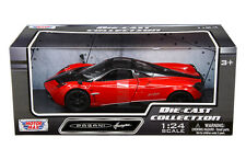 Pagani Huayra Red Black Wheels 1/24 Scale Diecast Car Model By Motor Max 79312