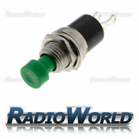 Push Button Switch Green 3A 250V OFF-(ON) 1 Circuit Momentary SPST-NO