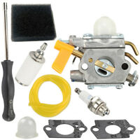 For Homelite Ryobi Poulan Trimmers Blowers Carburetor Air filter Tune Up kit