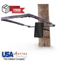 Tree Stand Shooting Rail Flip Up Bracket Ratcheted Strap Shooting Accuracy NEW