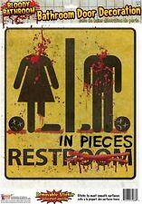 Halloween Horror Bloody Bathroom Door Decoration Rest In Pieces Removable Sticke