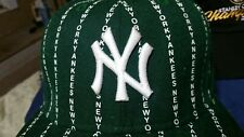 GREEN WHITE Pinstripe NY YANKEES  MLB Hat Fitted New Era Free Shipping in a Box!