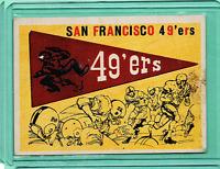 1959 Topps #111 San Francisco 49ers Pennant banner Ex