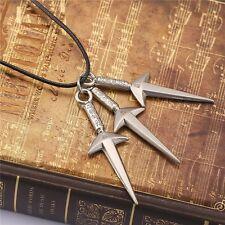 Naruto Cosplay Uzumaki Naruto Ninja Kunai Shuriken Symbol Metal Sword Necklace