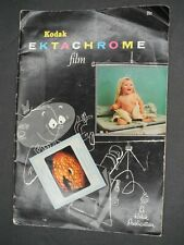 Kodak Extachrome Film 1955 Camera Book (Missing Pocket Exposure Guide)