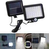 56 LED Solar Power Motion Sensor Light Security Flood Outdoor Garden Path Lamp Z