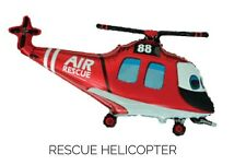"""RED & WHITE AIR RESCUE HELICOPTER SUPERSHAPE 36"""" FOIL BALLOON!"""