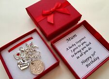 LUCKY SIXPENCE Charm, 50th, Birthday Gift 1967 COIN PERSONALISED