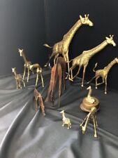 Brass / Giraffe Set Including Wall Hanging