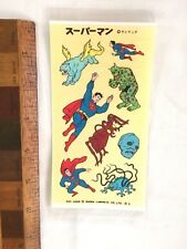 1960S SUPERMAN LETRASET STYLE TRANSFERS KENRICK JAPANESE MARKET ONLY NM #2!