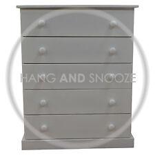 HANDMADE CAMBRIDGE 5 DRAWER CHEST WHITE(ASSEMBLED)