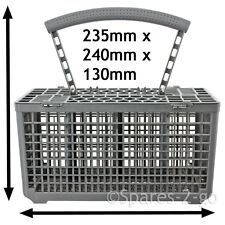 Cutlery Basket for WHIRLPOOL Dishwasher Plastic Cage Tray Lid Removable Handle